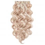 Rapunzel® Extensions Naturali Kit Clip-on Ondulato 7 pezzi M7.3/10.8 Cendre Ash Blonde Mix 60 cm