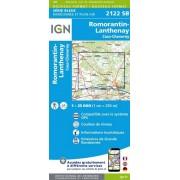Wandelkaart - Topografische kaart 2122SB Romorantin-Lanthenay, Cour-Cheverny   IGN
