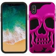 Funda Case Iphone Xs / X Protector Uso Rudo - Calavera Rosa