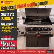 Barbecook SIESTA 612 BLACK EDITION plinski roštilj