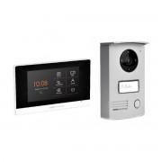 SCS_SENTINEL Kit Videocitofonico Monofamiliare Visiodoor 4,3'' Touch Screen A Colori 2 Fili