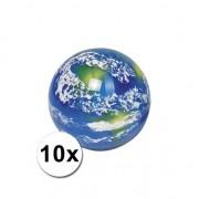 Geen Wereldbol stuiterballen 10 stuks