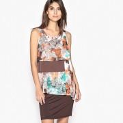 ANNE WEYBURN Bedrucktes Kleid, Materialmix