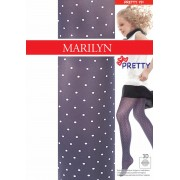 Marilyn - Trendy childrens tights with polka dot pattern Pretty 40 denier