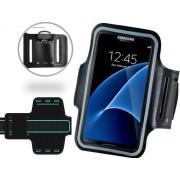 Universele Spatwaterdichte Sportarmband voor smartphone - 5.5 inch - Waterproof - Zwart