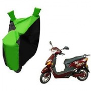 Intenzo Premium Green Black Two Wheeler Cover for Hero Electric Optima Plus
