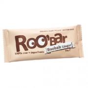 Baton Raw Bio cu Baobab si Ghimbir 30gr Roobar