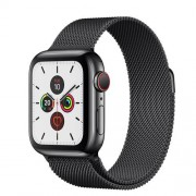 Apple Watch Series 5 Cellular 40mm Rustfrit Stål Space Black Stainless Milanese Space Black