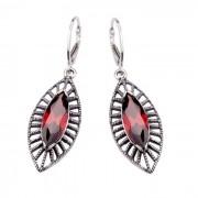 Kolczyki srebrne z cyrkoniami K 1528 : Kolor - Czerwony