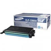 Samsung Originale CLP-610 ND Toner (CLP-C 660 A/ELS) ciano, 2,000 pagine, 3.16 cent per pagina - sostituito Toner CLPC660AELS per CLP-610ND