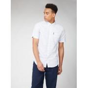 Ben Sherman Script Ben Sherman Short Sleeve Jacquard Dot Shirt XL White