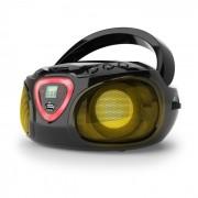 Roadie Boombox Aparelhagem CD USB MP3 Rádio AM/FM Bluetooth 2.1 LED Multicolor Preto