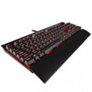 Клавиатура Corsair K70 LUX, Гейминг, механична, Cherry MX Red, подсветка, USB