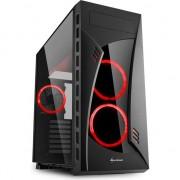 Carcasa desktop sharkoon NOAPTEA SHARK RED (4044951026234)