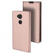 Capa Flip Dux Ducis Skin Pro para Sony Xperia XA2 Ultra - Cor-de-Rosa Dourado