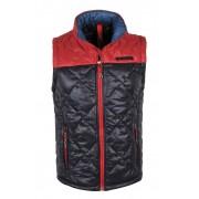 Giorgio Di Mare Winter Coat Sleeveless Sweater Navy/Red GI8084153