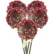 Bellatio flowers & plants 5x Roze/rode sierui kunstbloemen 70 cm