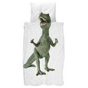 Snurk Parure de lit 1 personne Dinosaurus Rex / 140 x 200 cm - Snurk vert en tissu