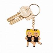 Kulcstartó Táncos emoji fém