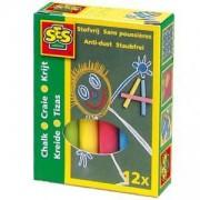Комплект Цветни тебешири 12 броя, SES, 080724