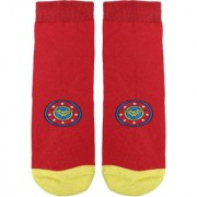Soxytoes Wonder Woman Red Cotton Ankle Length Pack of 1 Pair for Women Casual Socks (STS0153)