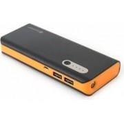 Baterie Externa Omega Platinet Power Bank 13000 mah Negru cu Portocaliu
