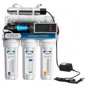 OSMOSIS INVERSA 6 etapas 100GPD C/UV, bomba, Monitor calidad agua y Vida Cartuchos