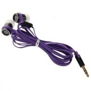 Maxy Auricolare Stereo Super Bass Headphones Jack 3,5mm Universale Purple Per Modelli A Marchio Blackberry