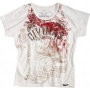 Rokker Divinas Kvinnors skjorta Vit M