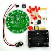 Electronics-Salon 12 Position LED Electronic Lucky Rotary Board Kit