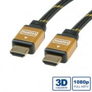 ROLINE 11.04.5506 :: ROLINE Gold HDMI High Speed кабел с Ethernet, M - M, 10.0 м