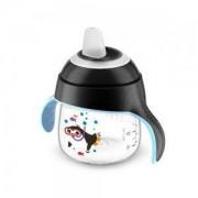 Неразливаща се бебешка чаша с мек накрайник Philips-Avent 200мл., черен пингвин, 0760134