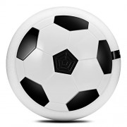 Zorbes Air Power Soccer Disc LED Lights Electric Gliding Floating Football Indoor Outdoor Game Kids Toy