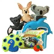 Four Seasons Crafting Wild Friends Adventure Sewing & Craft Kit - Kangaroo, Koala, Dolphin, Bat, Peacock