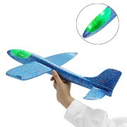 48cm LED Light Hand Launch Throwing Aircraft Airplane Glider DIY Inertial Foam EPP Plane Toy