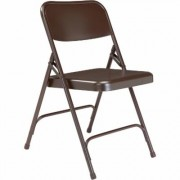 National Public Seating All Steel Folding Chairs - Set of 4, Brown, Model 203