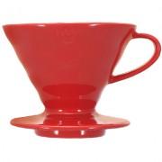 Hario Palnie Ceramica dripper V60 (rosu)