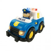 Boley Light and Sound Police Car Toy - Electric siren with flashing lights - perfect educational toy for toddlers that seek imaginative and pretend play