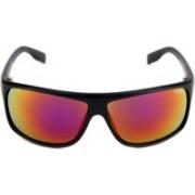 Image Retro Square Sunglasses(Red)