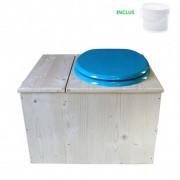 Toilette sèche - La Bac bleu turquoise