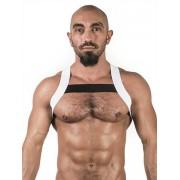 Mister B Urban X Back Club Harness White/Black 820568