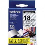 Ламинирана лента Brother TZ-E141 Tape Black on Clear, Laminated, 18mm, 8m - Eco - TZE141