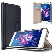 Huawei P8 Lite (2017) Saii Klassiek Wallet Case - Zwart