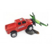 Ford F-650 Super Duty Off Road Toy Truck (Friction Powered Push Toy) vs All Terrain Wild King Alligator Toy