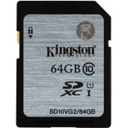 Memorija SD 64GB Kingston Class 10, UHS-I 45MB/s, SD10VG2/64GB
