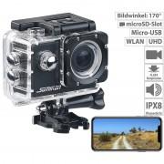 Somikon UHD-Action-Cam DV-3717 mit WLAN, Sony-Bildsensor und App, IPX8