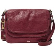 Fossil Women Maroon Genuine Leather Hand-held Bag