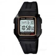 Casio F-201WA-9ADF negro digital del reloj del deporte de los hombres / oro (sin la caja)