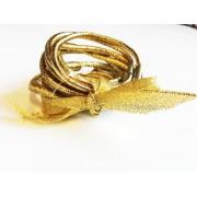 Hårsnoddar i Silver och Guld glitter 10-pack! (Silver)