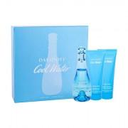 Davidoff Cool Water confezione regalo Eau de Toilette 100 ml + lozione per il corpo 75 ml + doccia gel 75 ml donna
